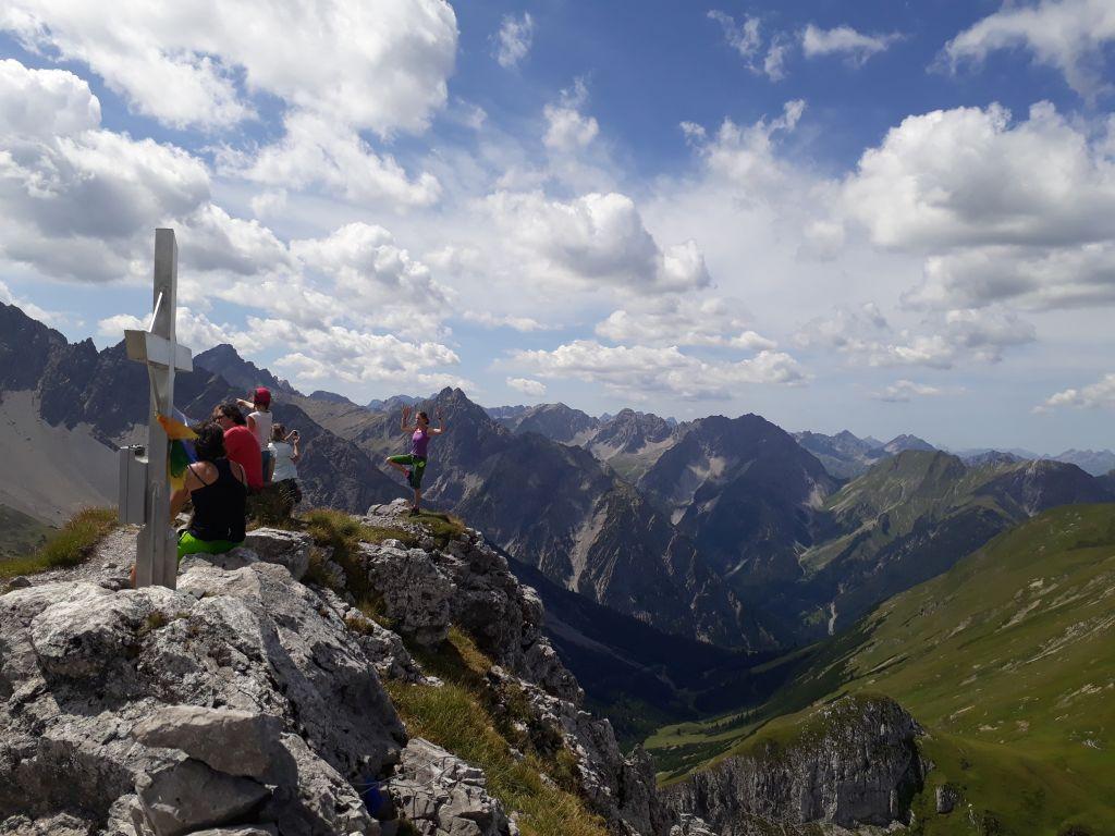 Tolle Aussicht am Gipfel