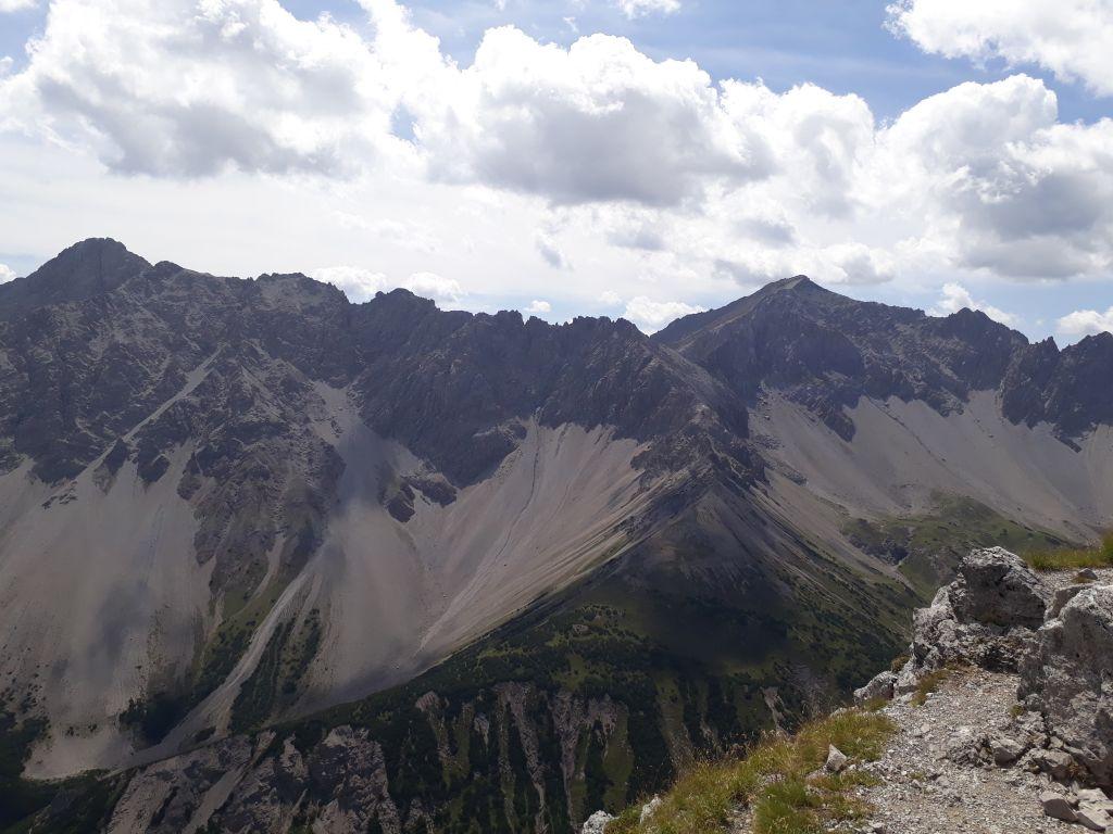 Blick vom Steinjoch nach Süden auf die Heiterwand