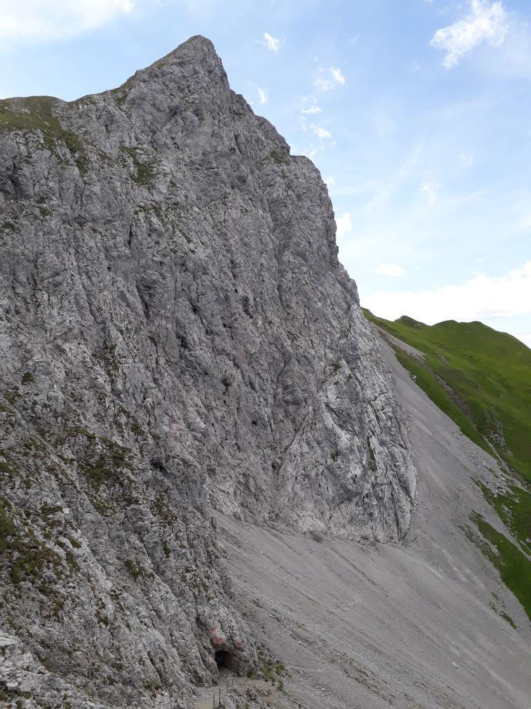 Beliebt bei Kletterern: Die Nordost-Flanke des Falschen Kogel