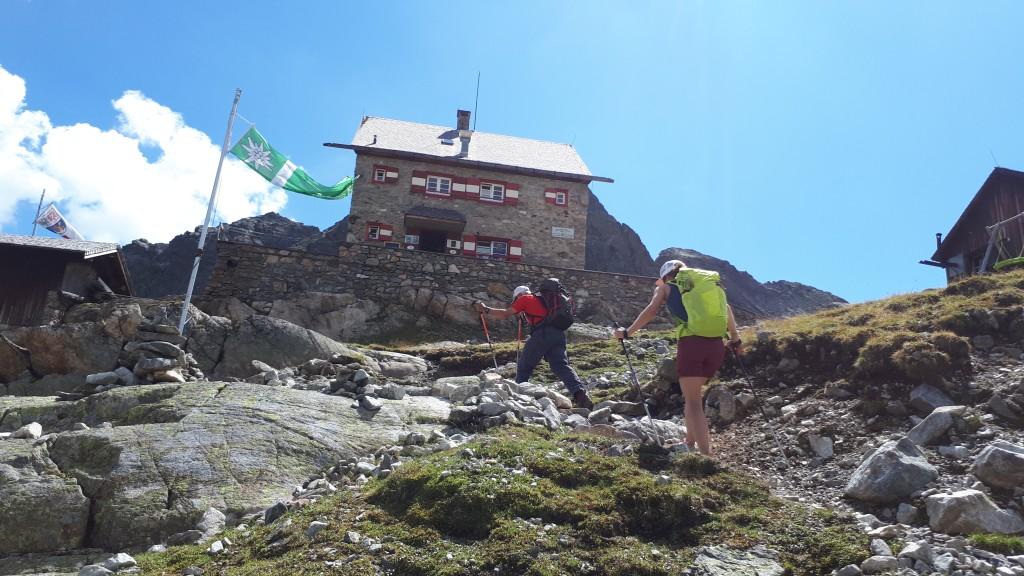 Die letzten Meter zur Erlanger Hütte