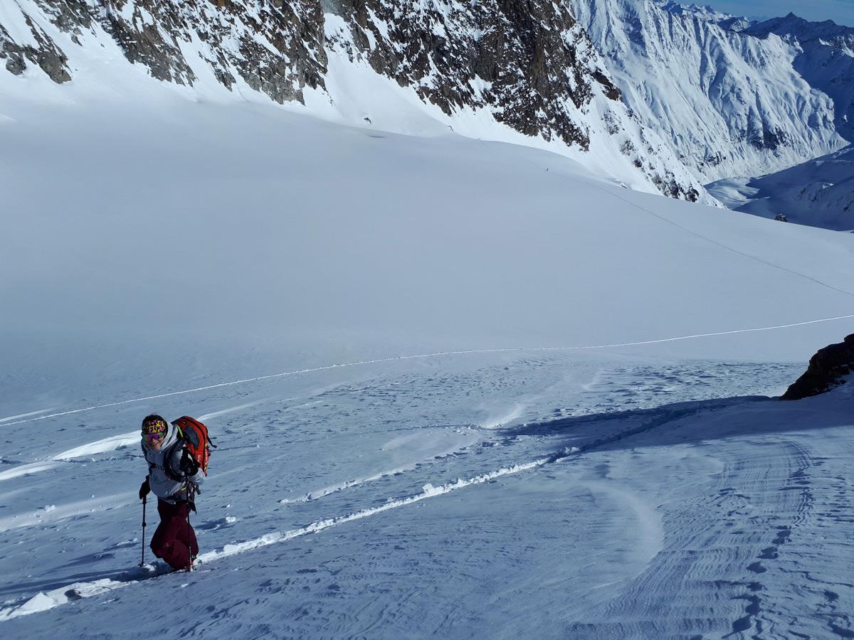 Der letzte Abschnitt über den Gipfelaufbau