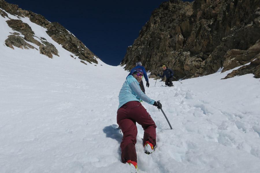 In der Eisrinne – hier bei weichen Schneebedingungen