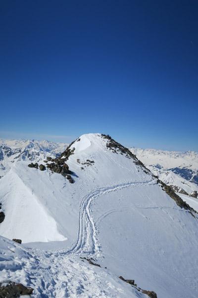 Nach der Eisrinne die letzten Meter zum Gipfel