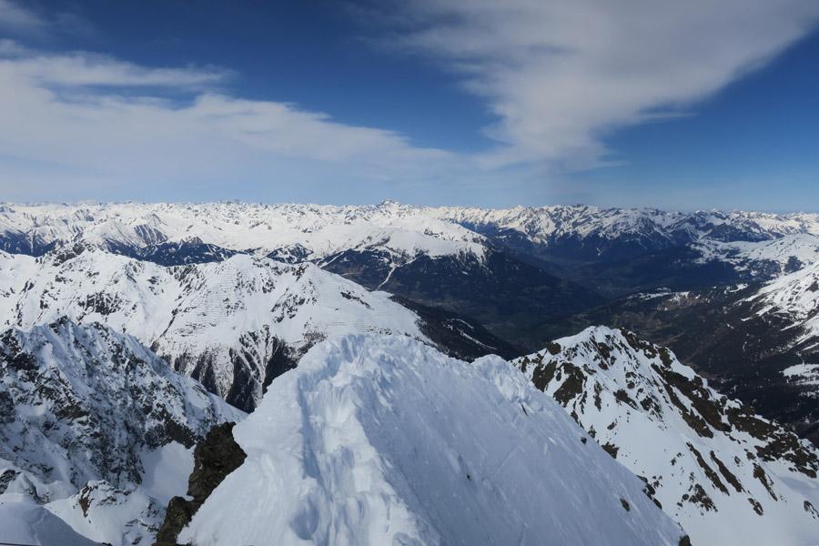 Firngrat vor dem Gipfel