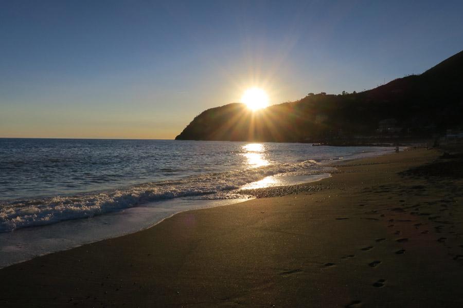 Am Strand von Levanto