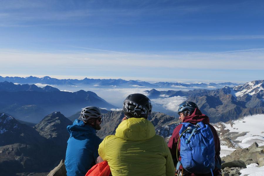 Gipfelpanorama am Piz Roseg