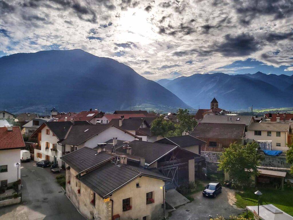 Blick ins Dorf Schluderns