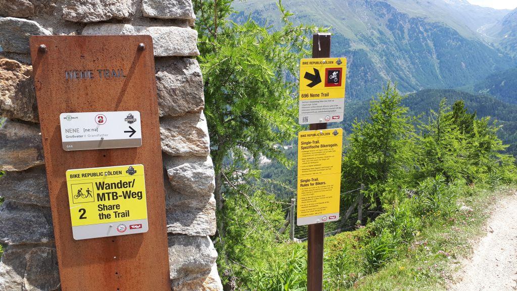 Nene Trail: Shared Trail in Sölden
