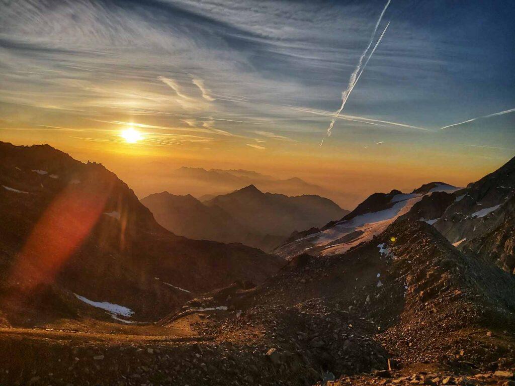 Sonnenaufgang Zwischenbergenpass