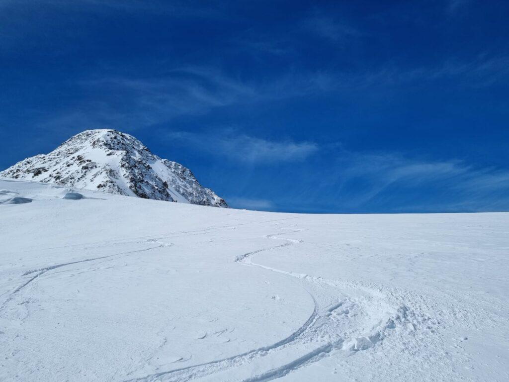 Skiabfahrt am Taschachferner