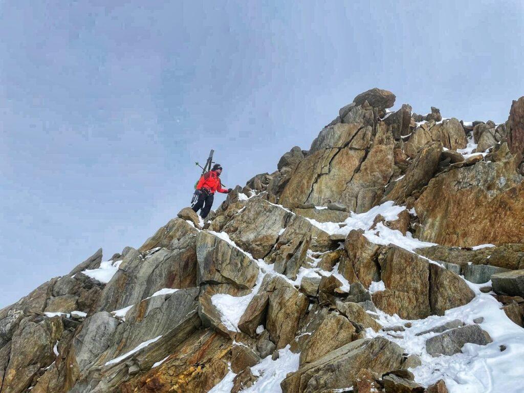 Letzte Meter zum Gipfel der Wildspitze