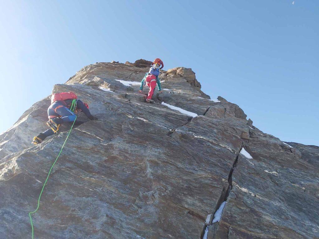 Kurze Kletterstelle vor dem Hohberghorn