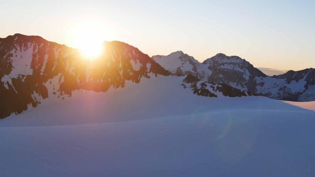 Riedgletscher Sonnenaufgang
